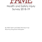 FAME Health and Safety Injury Survey 2018-19
