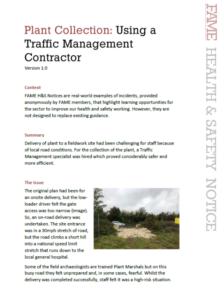 FAME Health & Safety Notice - Traffic Management